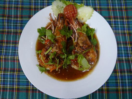 Lucky Tom's: tiger prawn tamarinds sauce