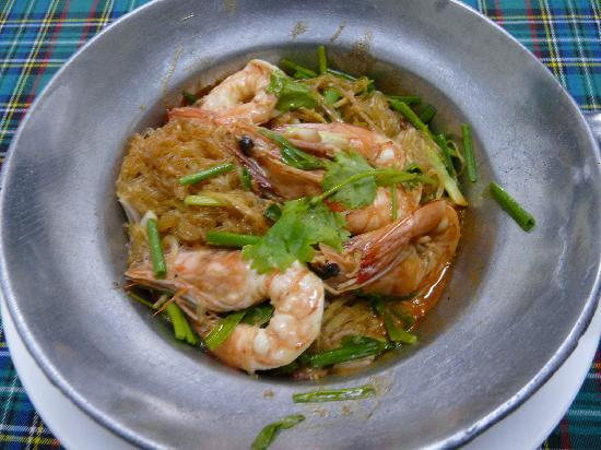 Lucky Tom's : king prawn hot pot