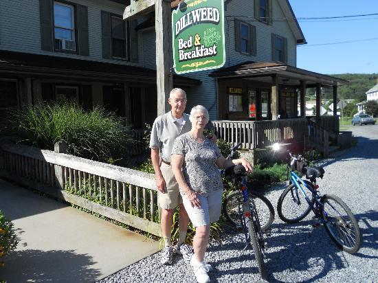 Dillweed Bed and Breakfast and Trail Shop: Bob & Marge, Ready To Bike