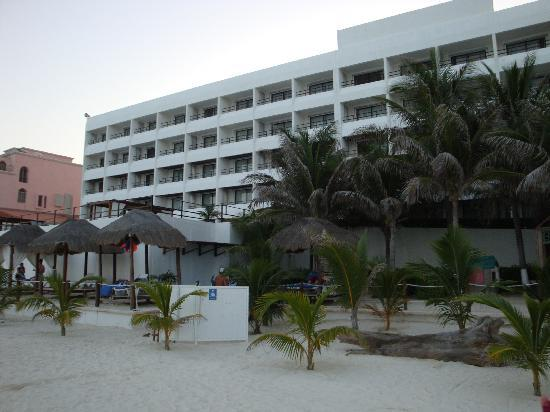 Flamingo Cancun Resort: Exterior, From the Beach (More pics at: