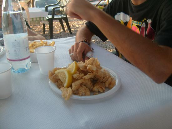 Faliero - la Maria: fritto di pesce (a scelta tra pesce di lago e mare)