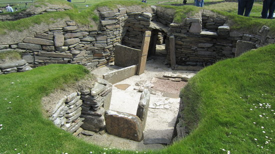 John O'Groats, UK: Skara Brae neolithic village