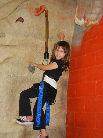 Metropolis Resort: Enjoying the Rock Climbing! (Do it as many x's as you want w/the unlimited action city pass!)