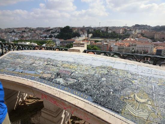 Lisbon Stories: Tiled map of Lisbon