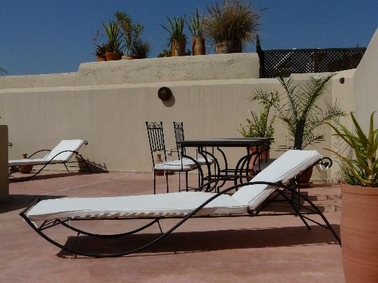 Riad L'Orange Bleue: la terrasse