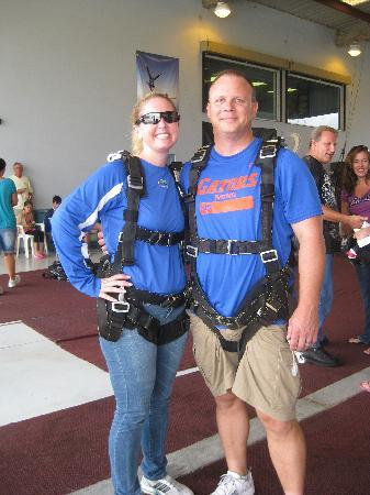 Skydive Space Center: In gear, ready to jump