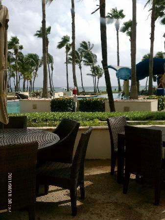 Caribe Hilton San Juan: view from breakfast