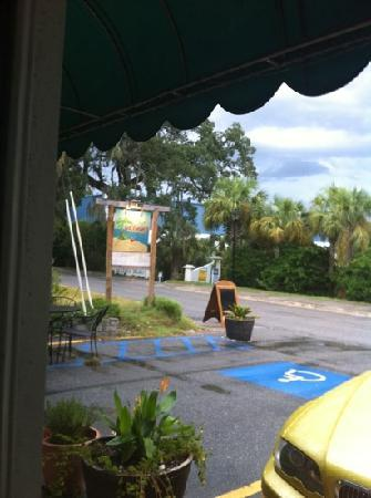 "Tortugas Island Grille: this is the ""real"" view. the other one on the front page is across the road"