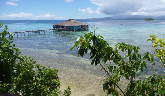 Gizo, Solomon Islands: view from bungalow