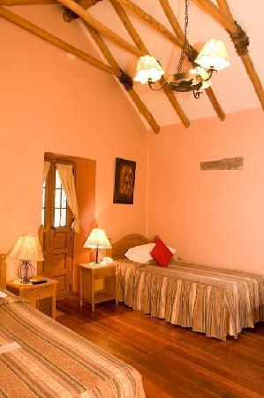"""Los Apus Hotel & Mirador: Room #201 with colonial ceiling """"Par y Nudillo"""""""