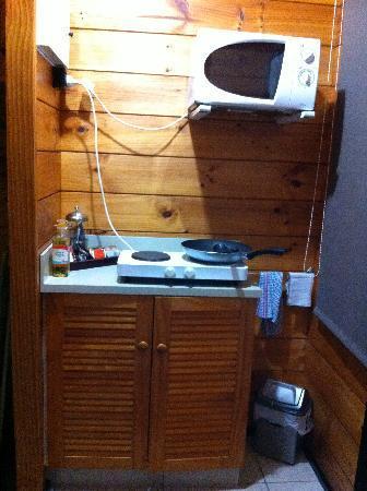 Kerikeri Homestead Motel & Apartments: 部屋のコンロとマイクロウェーブ