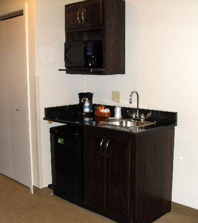 Holiday Inn & Suites Airport: microwave, sink and refrigerator