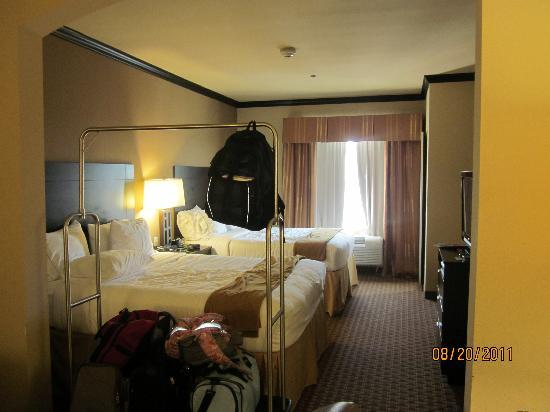 Holiday Inn Express & Suites Corpus Christi: Excuse our stuff in this photo!