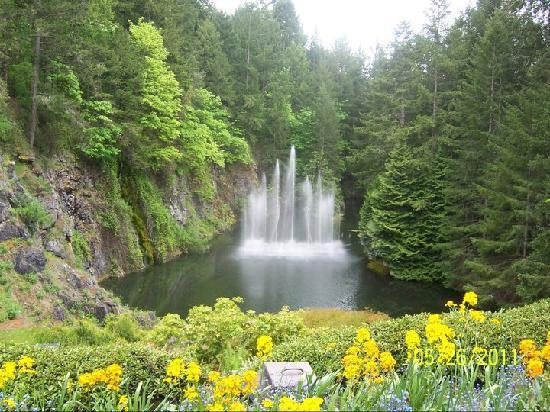 The Butchart Gardens: Waterfall or Fountains