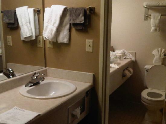 Best Western Alderwood: Photo of the coffee/drink sink and the bathroom.
