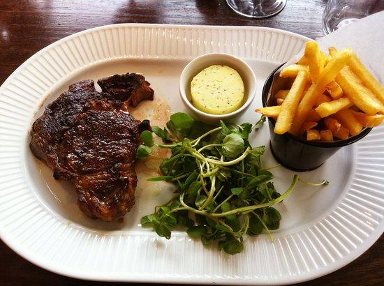 Cote Brasserie - Cambridge : Rib-eye steak