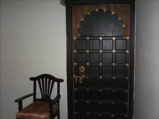 The Udai Bagh: entry door to bedroom