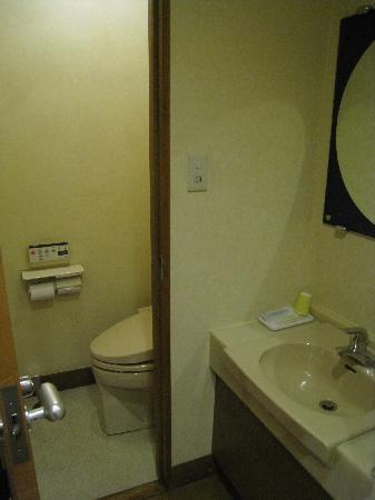 Nasu Shiobara Station Hotel: 室内トイレ洗面