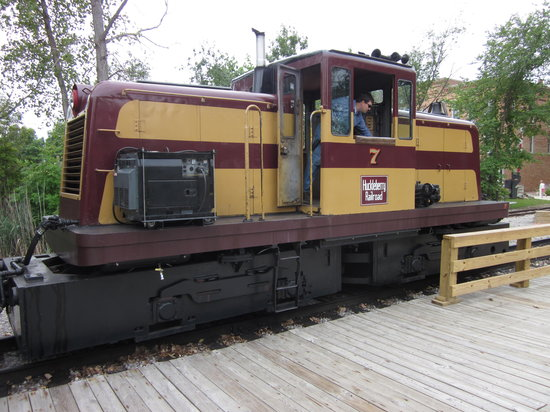 Crossroads Village & Huckleberry Railroad: This is the diesel train that pulls the coaches.