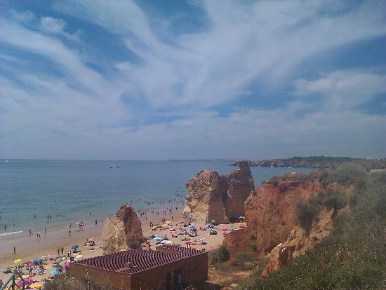 Praia Da Rocha: View from the stairs