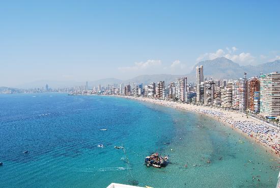 Hotel Benikaktus: Vue du balcon