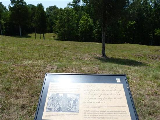 Musgrove Mill State Historic Site: signs explaining the battle