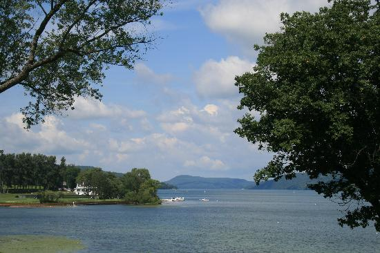 The Otesaga Resort Hotel: View from porch