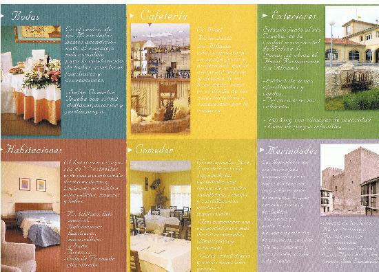 Hotel Restaurante Alhama: es un folleto que cogí de recepción, se aprecian habitaciones.