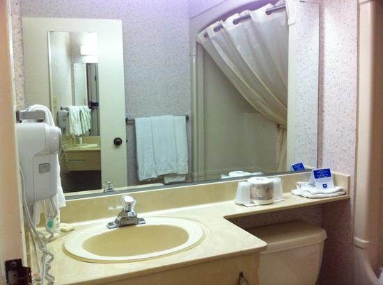Comfort Inn Kenora: bright and clean bathroom