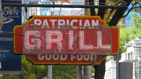 Patrician Grill: The Patrician's Classic Sign!