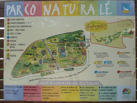 Cervia, İtalya: Mappa del parco