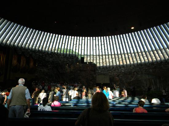 Temppeliaukio-Kirche: View of the interior