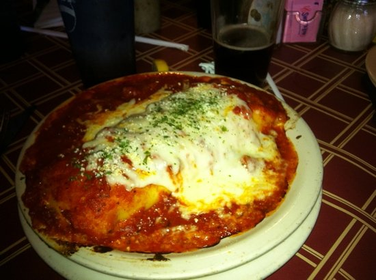 Big Mike's: sausage and roasted red pepper manicotti