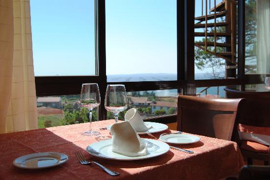 Hotel O Castro: Vistas desde el restaurante