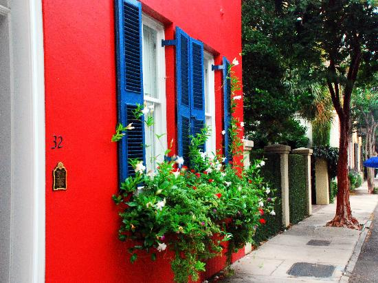 Charleston, SC: Blue on orange
