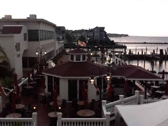 Chesapeake Beach Resort and Spa: view from room at dusk, bay is to the right