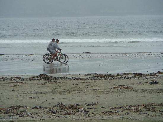 Chesterman Beach Bed and Breakfast: bikers on the beach