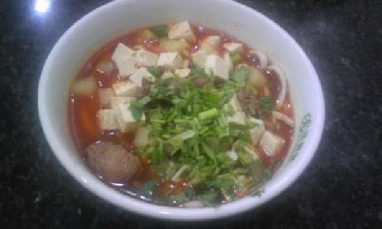 YiPin Mutton Lao Cuo Mian: 羊肉老搓面(小碗)