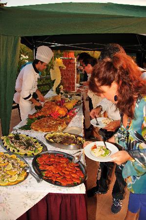 Hotel Casa Rosa: Buffet in terrazza