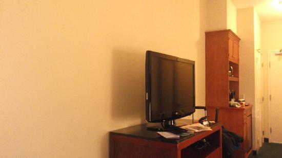 Hilton Garden Inn Hershey : tv and bed