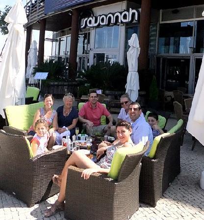 Savannah Restaurant : Enjoying the sunshine and great location!