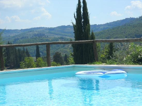 Podere Campriano: View of Chiantishire from the Swimming Pool