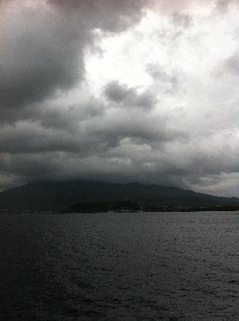 Mt. Sakurajima: フェリーからの桜島