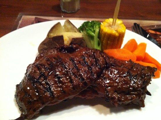 Jake's Charbroil Steaks: beef rip steak