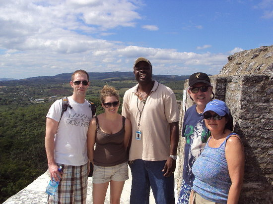 Ladyville, Belize: On top of the tallest temple in Xunantunich a spectacular Mayan site in Belize.