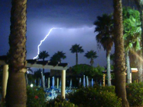 Adriana Beach Club Hotel Resort: One helluva storm!