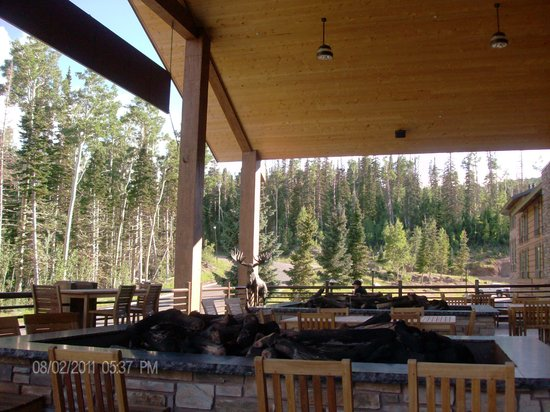 The Lift bar and Grill: View from the patio area