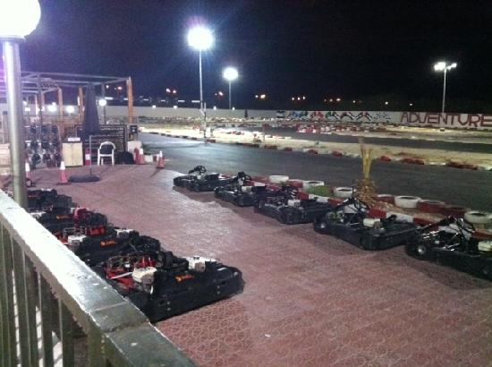 Dead Sea Region, Yordania: Karting at night