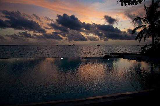 Taj Exotica Resort & Spa: Pool at sunset
