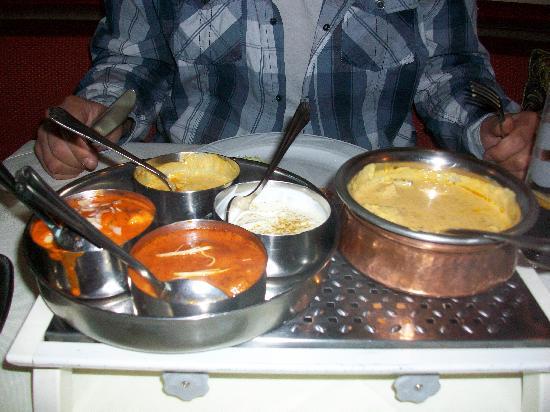 Taj Palace: Unser Essen :)